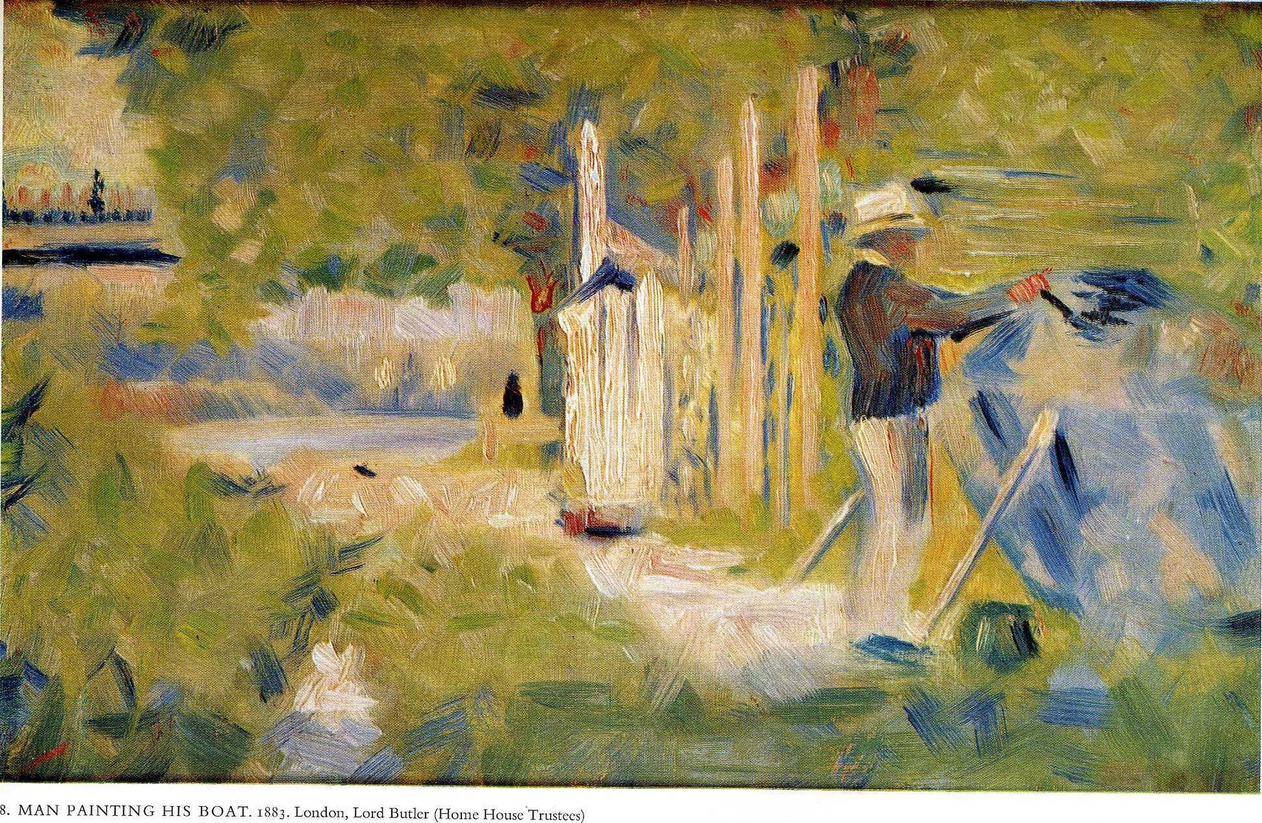 Man Painting his Boat by Georges Seurat Reproduction Painting by Blue Surf Art