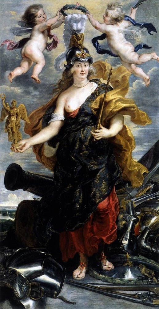 Marie de Medicis as Bellona by Peter Paul Rubens Reproduction Oil Painting on Canvas