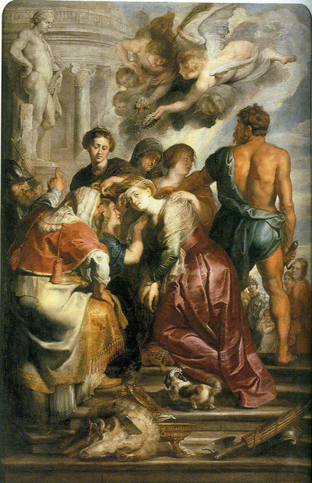 Martyrdom of St. Catherine by Peter Paul Rubens Reproduction Oil Painting on Canvas