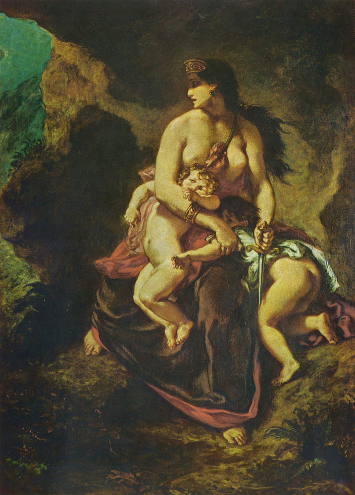 Medea by Eugène Delacroix Reproduction Painting by Blue Surf Art
