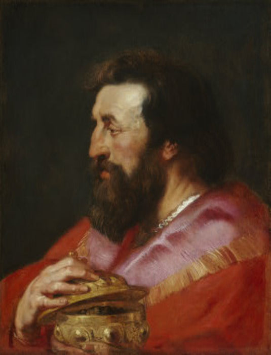 Melchior, The Assyrian King by Peter Paul Rubens Reproduction Oil Painting on Canvas