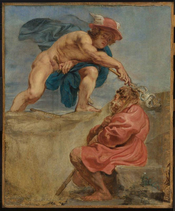 Mercury and a Sleeping Herdsman by Peter Paul Rubens Reproduction Oil Painting on Canvas