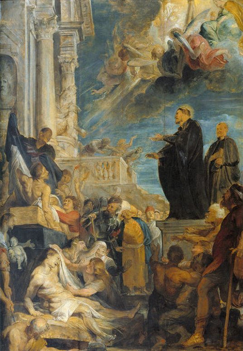 Miracle of St. Francis by Peter Paul Rubens Reproduction Oil Painting on Canvas