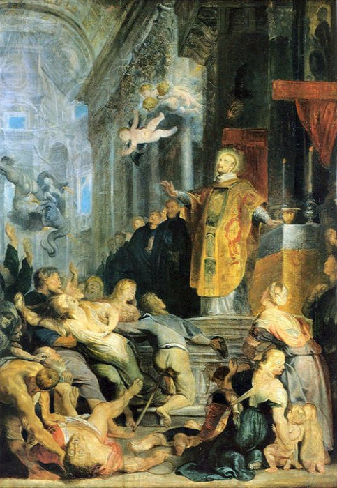Miracle of St. Ignatius of Loyola by Peter Paul Rubens Reproduction Oil Painting on Canvas