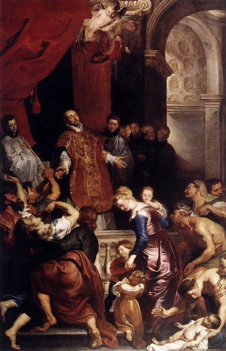 Miracles of St. Ignatius by Peter Paul Rubens Reproduction Oil Painting on Canvas