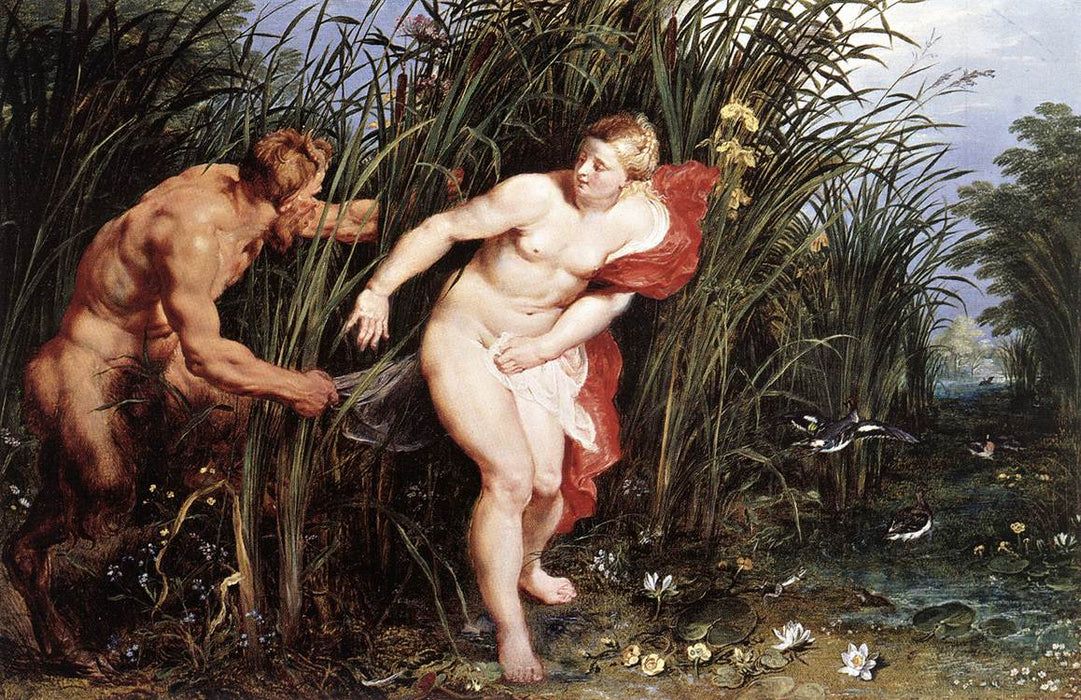 Pan and Syrinx by Peter Paul Rubens Reproduction Oil Painting on Canvas