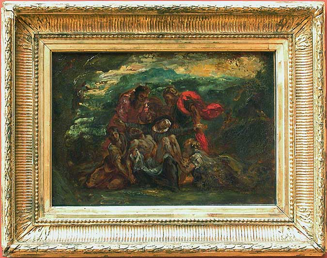 Pietà by Eugène Delacroix Reproduction Painting by Blue Surf Art