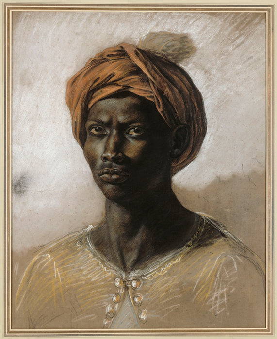 Portrait of a Turk in a Turban by Eugène Delacroix Reproduction Painting by Blue Surf Art