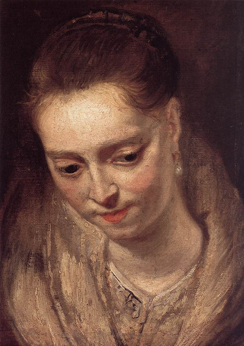 Portrait of a Woman by Peter Paul Rubens Reproduction Oil Painting on Canvas