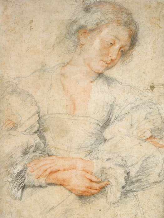 Portrait of a Young Woman by Peter Paul Rubens Reproduction Oil Painting on Canvas