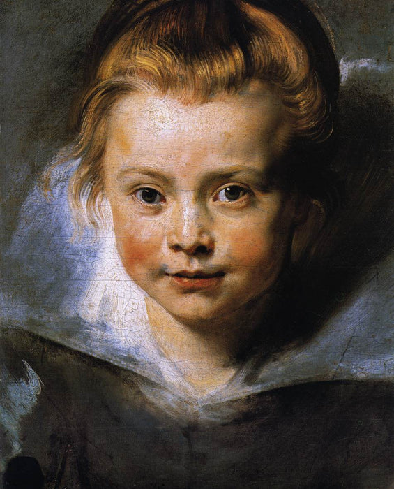 Portrait of Clara Serena Rubens by Peter Paul Rubens Reproduction Oil Painting on Canvas