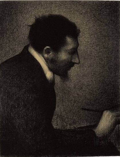 Portrait of Edmond-François Aman-Jean by Georges Seurat Reproduction Painting by Blue Surf Art