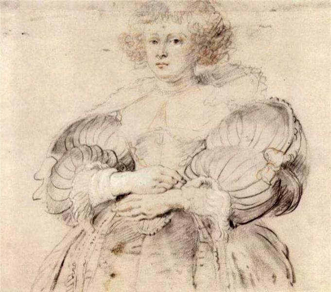 Portrait of Helena Fourment by Peter Paul Rubens Reproduction Oil Painting on Canvas