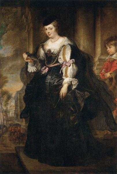 Portrait of Helene Fourment with a Coach by Peter Paul Rubens Reproduction Oil Painting on Canvas
