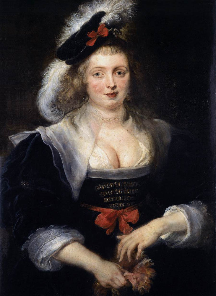Portrait of Helene Fourment with Gloves by Peter Paul Rubens Reproduction Oil Painting on Canvas