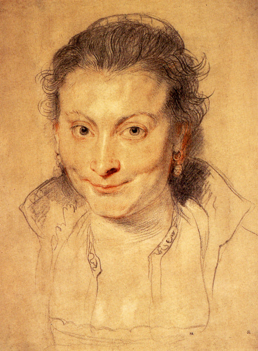 Portrait of Isabella Brandt by Genii by Peter Paul Rubens Reproduction Oil Painting on Canvas
