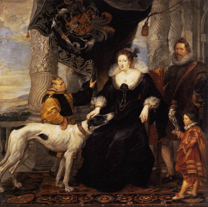 Portrait of Lady Arundel with her Train by Peter Paul Rubens Reproduction Oil Painting on Canvas