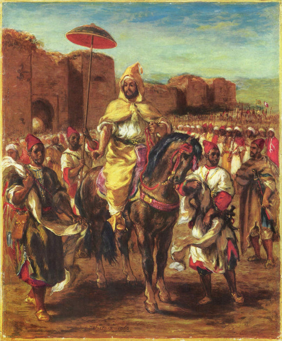 Portrait of the Sultan of Morocco  by Eugène Delacroix Reproduction Painting by Blue Surf Art