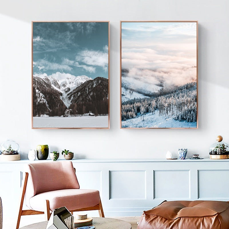 Winter at Nordic Canvas Art Print, Wall Art, Home Decor - Showcase 1