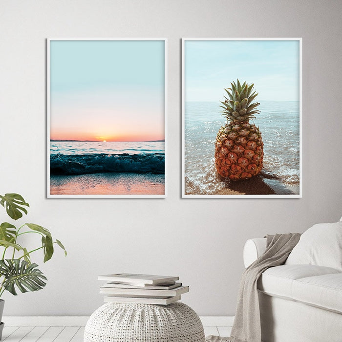Six different picture of Summer Vibes Prints at Blue Surf Art