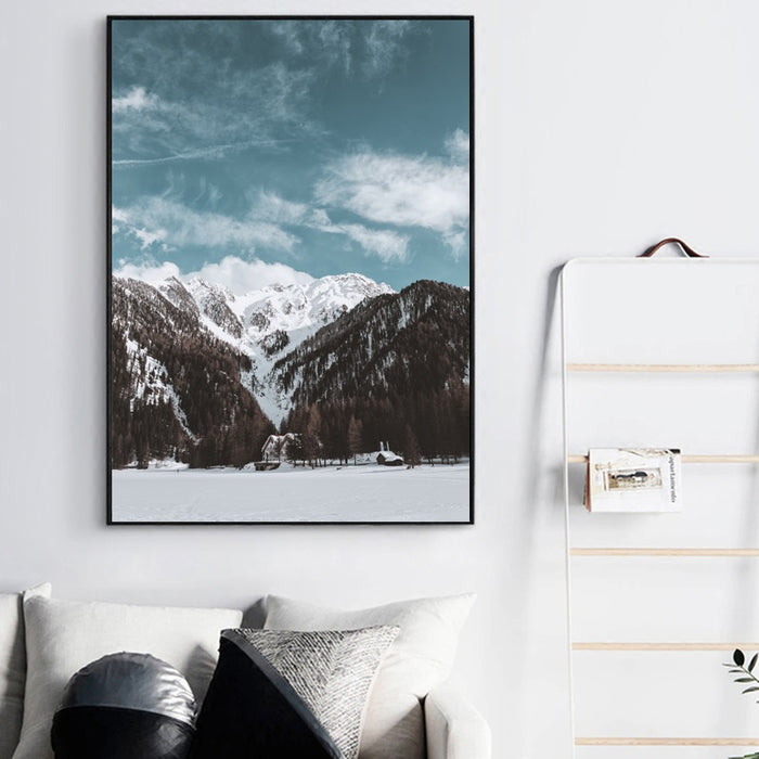 Winter at Nordic Canvas Art Print, Wall Art, Home Decor - Showcase 4