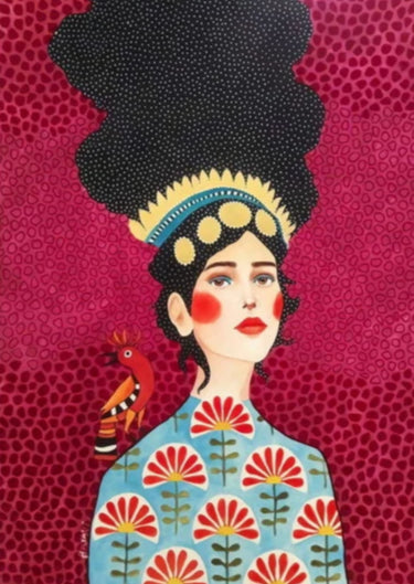 Pop Lady - Marie print on canvas, wall art, painting decoration.