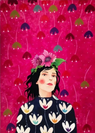 Pop Lady - Josephine print on canvas. Wall art, painting decoration