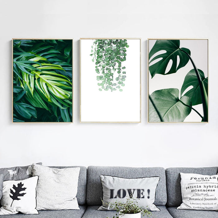 Tropical Leaf Wall Art Print on Canvas II