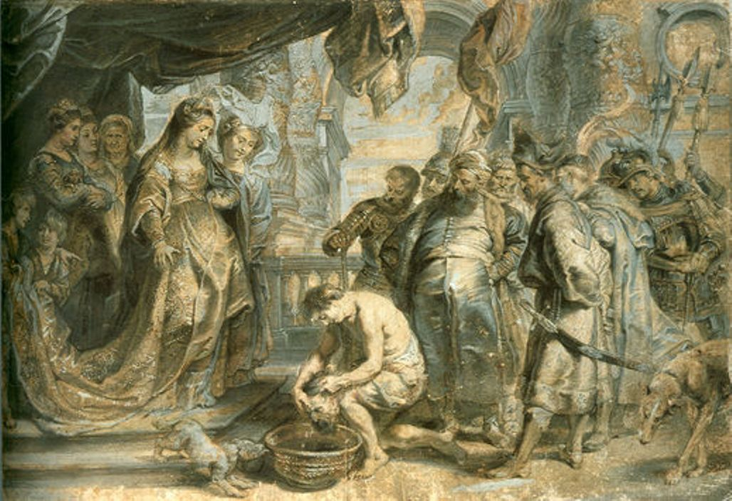 Queen Tomyris with the Head of Cyrus by Peter Paul Rubens Reproduction Oil Painting on Canvas
