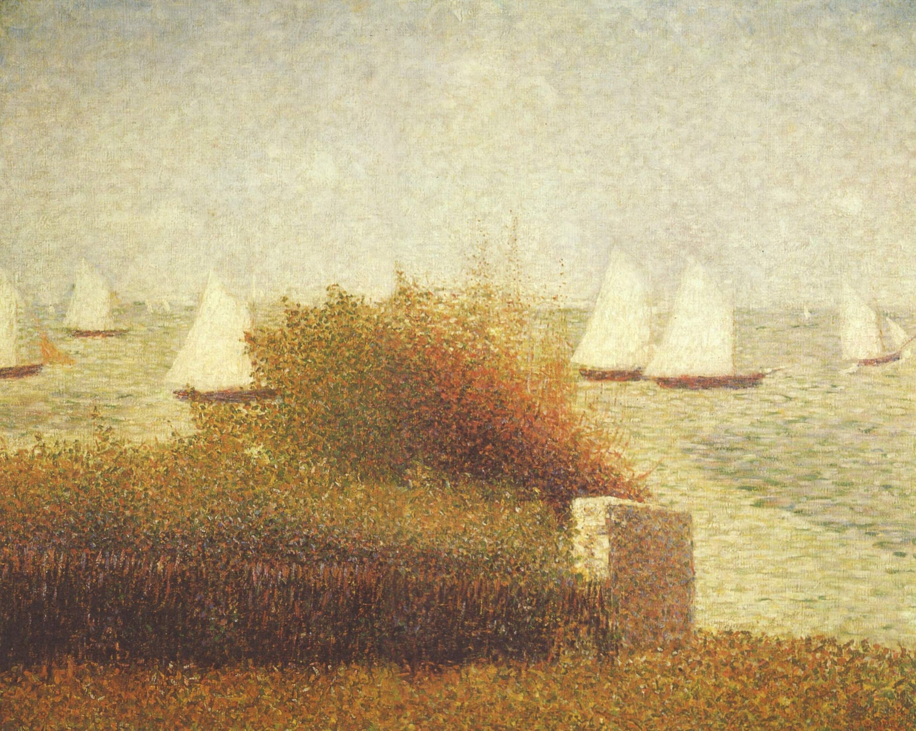 Race in Grandcamp by Georges Seurat Reproduction Painting by Blue Surf Art