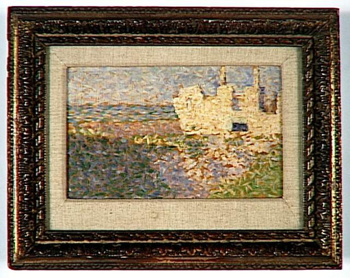 Ruins at Grandcamp by Georges Seurat Reproduction Painting by Blue Surf Art