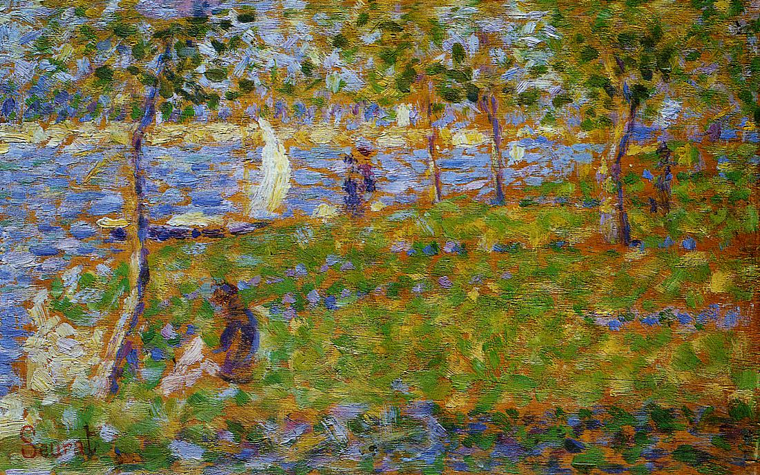 Sailboat by Georges Seurat Reproduction Painting by Blue Surf Art