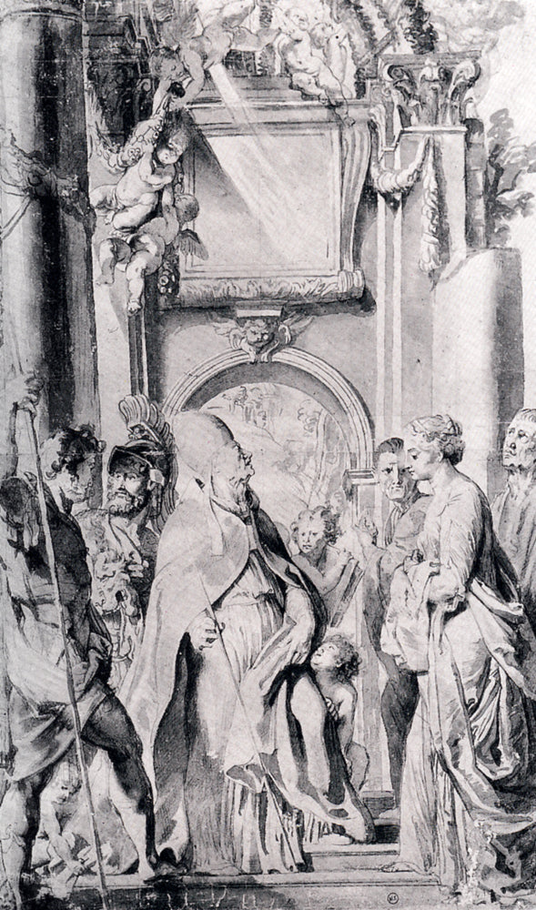 Saint Gregory with Saints Domitilla, Maurus, and Papianus by Peter Paul Rubens Reproduction Oil Painting on Canvas