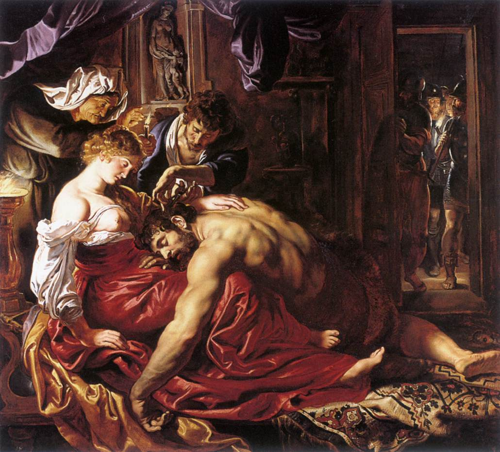 Samson and Delilah by Peter Paul Rubens Reproduction Oil Painting on Canvas