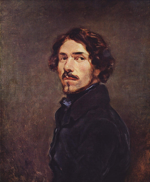 Self Portrait by Eugène Delacroix Reproduction Painting by Blue Surf Art
