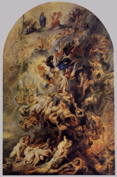Small Last Judgement by Peter Paul Rubens Reproduction Oil Painting on Canvas