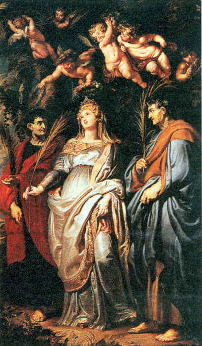 St. Domitilla with St. Nereus and St. Achilleus by Peter Paul Rubens Reproduction Oil Painting on Canvas