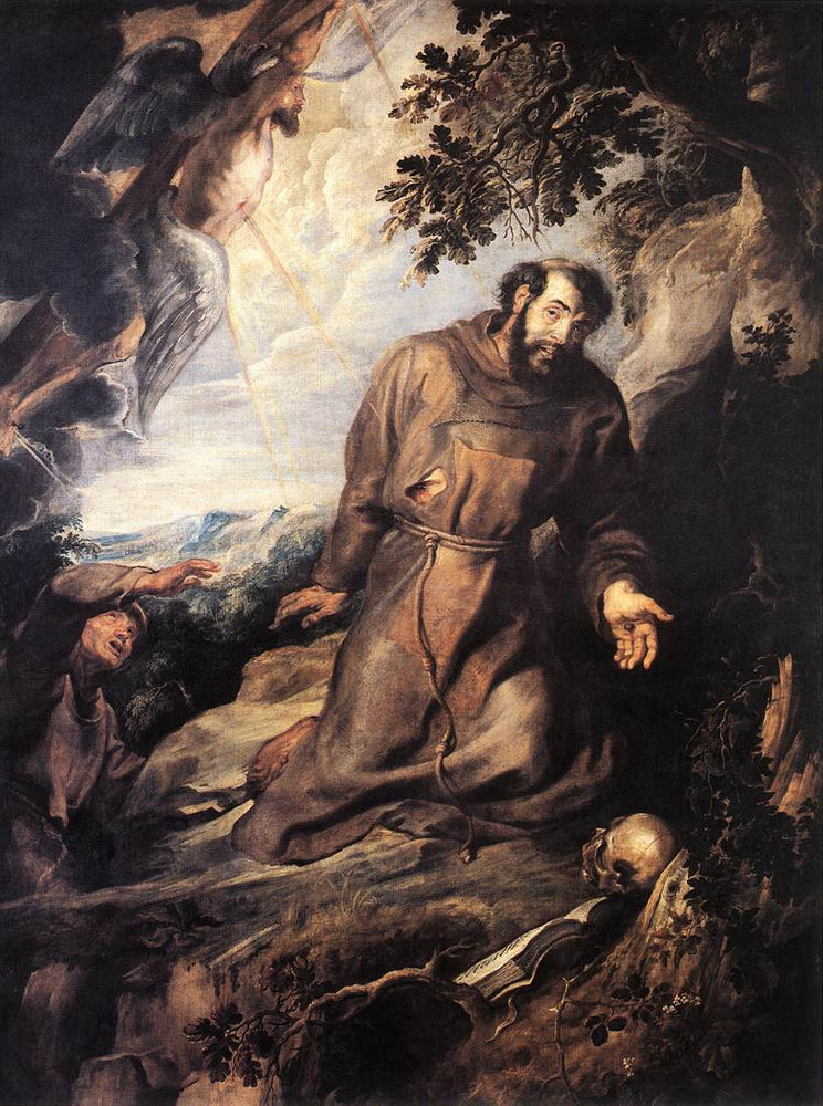 St. Francis of Assisi Receiving the Stigmata by Peter Paul Rubens Reproduction Oil Painting on Canvas