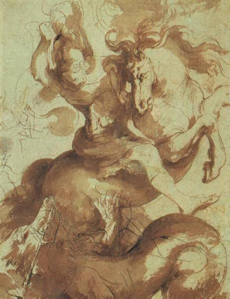St. George Slaying the Dragon by Peter Paul Rubens Reproduction Oil Painting on Canvas