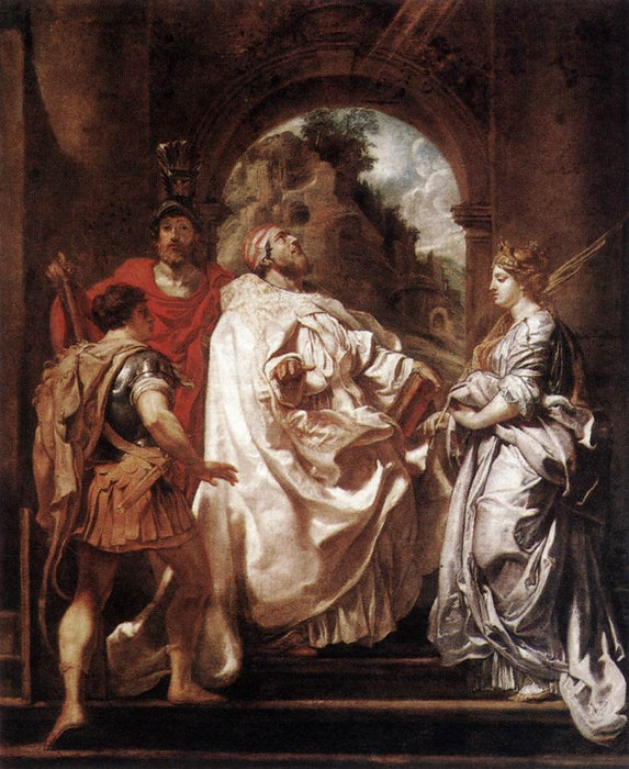 St. Gregory the Great with Saints by Peter Paul Rubens Reproduction Oil Painting on Canvas