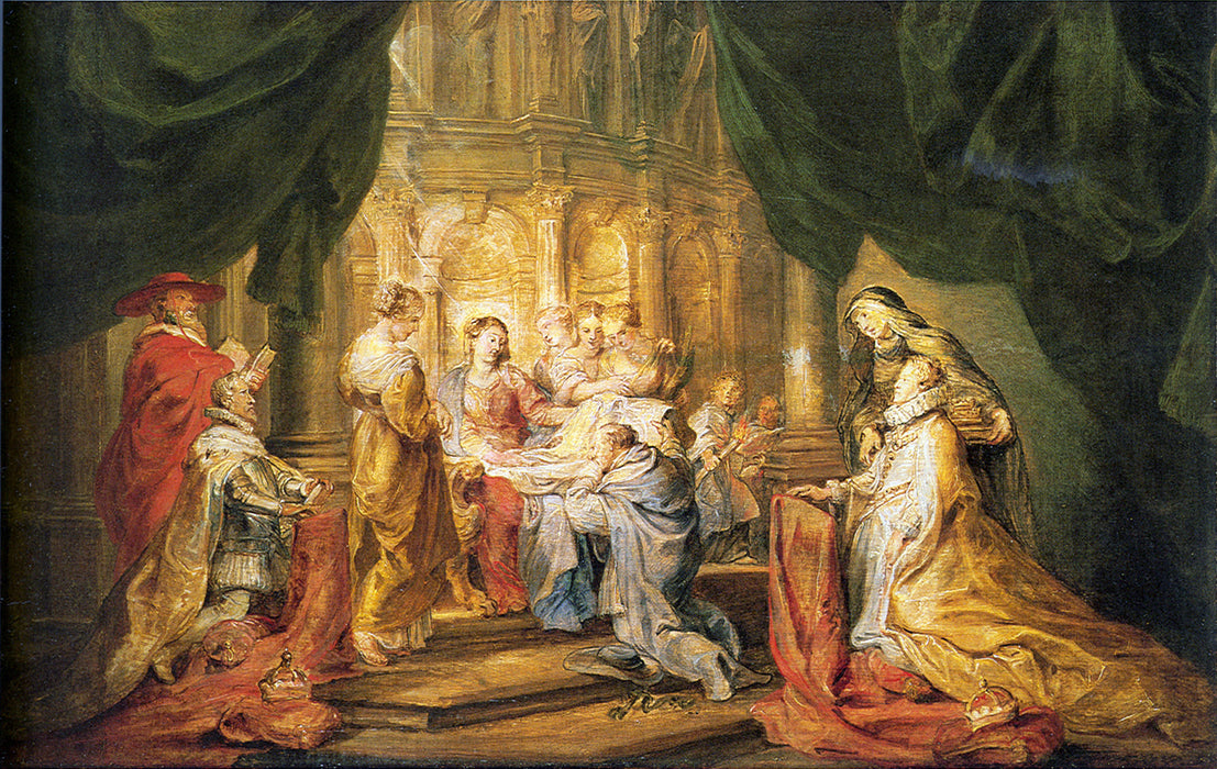 St. Ildefonso Receiving a Priest Cloak by Peter Paul Rubens Reproduction Oil Painting on Canvas