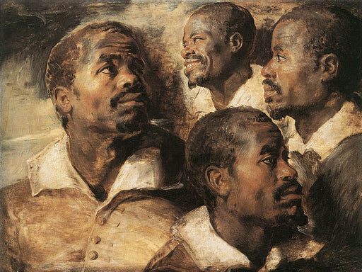 Studies of the Head of a Negro by Peter Paul Rubens Reproduction Oil Painting on Canvas