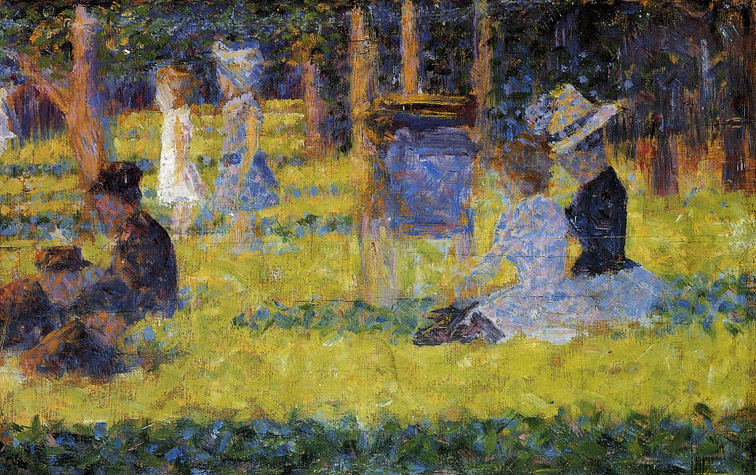 Study for 'A Sunday Afternoon on the Island of La Grande Jatte' by Georges Seurat Reproduction Painting by Blue Surf Art Grande Jatte