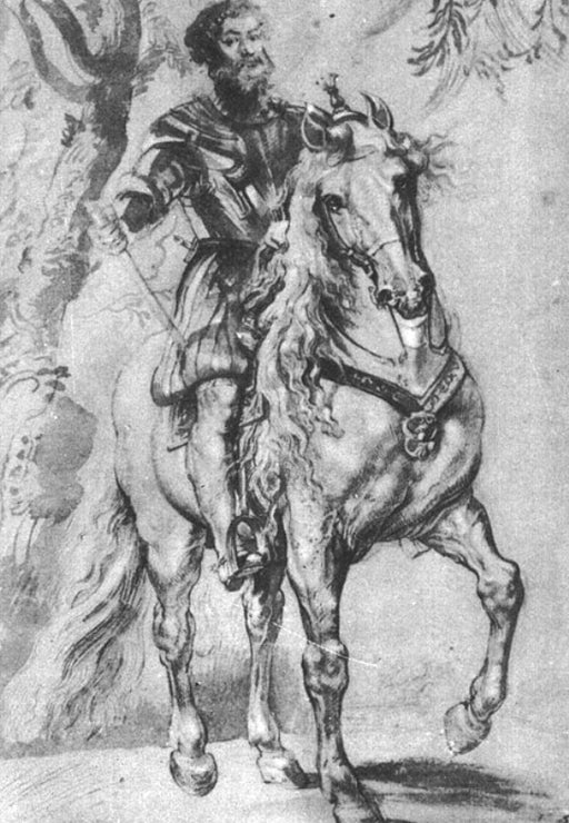 Study for an Equestrian Portrait of the Duke of Lerma by Peter Paul Rubens Reproduction Oil Painting on Canvas