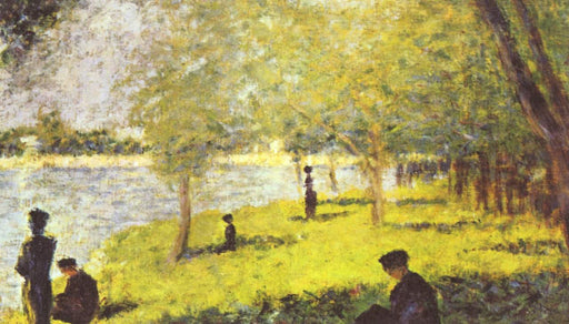 Study with Figures. Study for 'La Grande Jatte' by Georges Seurat Reproduction Painting by Blue Surf Art