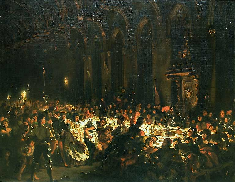 The Assassination of the Bishop of Liege by Eugène Delacroix Reproduction Painting by Blue Surf Art
