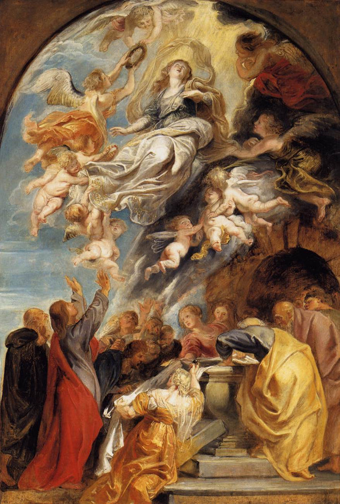 The Assumption of Mary by Genii by Peter Paul Rubens Reproduction Oil Painting on Canvas
