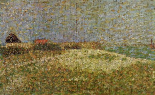 The away Samson in Grandcamp by Georges Seurat Reproduction Painting by Blue Surf Art
