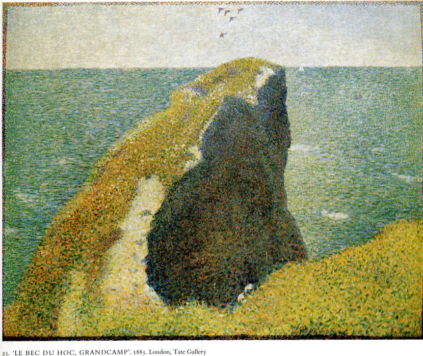 The Bec du Hoc, Grandcamp by Georges Seurat Reproduction Painting by Blue Surf Art
