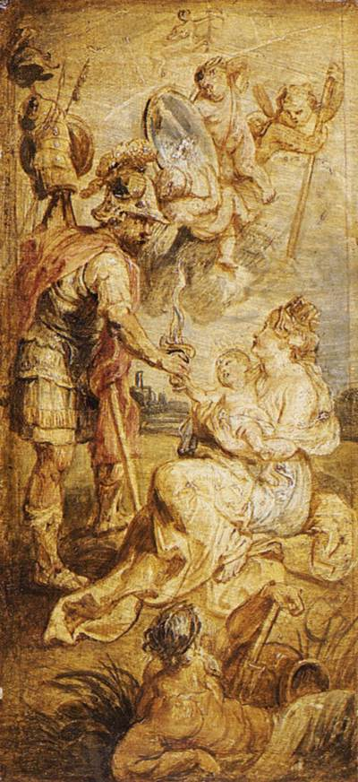 The Birth of Henri IV of France by Peter Paul Rubens Reproduction Oil Painting on Canvas